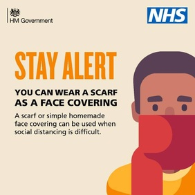 Stay Alert - You can wear a scarf as a face covering